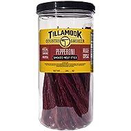 Tillamook Country Smoker Real Hardwood Smoked Pepperoni Sticks Releasable Jar, 20 Count