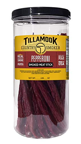 Smoked Pork Loin - Tillamook Country Smoker All Natural, Real Hardwood Smoked Pepperoni 1lb Jar (20 ct)