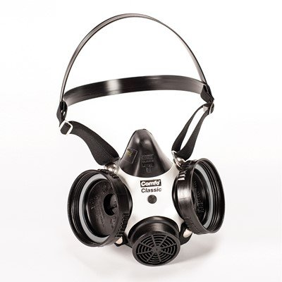 MSA Comfo Classic Half Mask Respirator, Small (3 Pack)