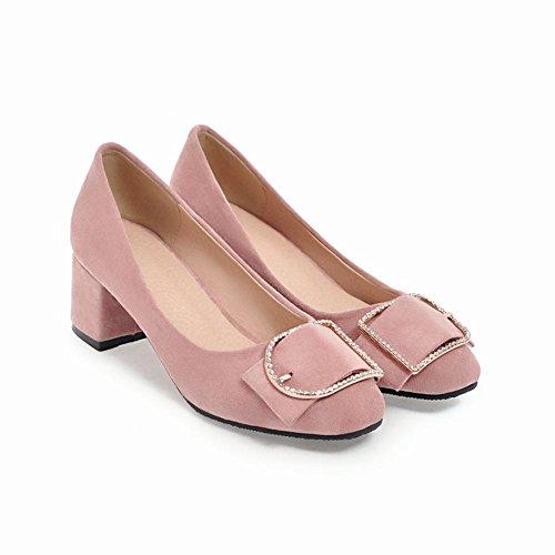 Vaaleanpunainen Avokkaat Kantapää Toe Carolbar Puolivälissä Charmi Naisten Tyylikäs Neliön Strassit 8w841zSq