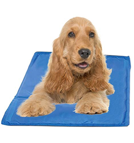 Hugs Pet Products Chillz Pressure Activated Pet Cooling Gel Pad - No Need To Freeze Or Chill - Keep Your Dog Cool and Reduce Joint Pain - Medium