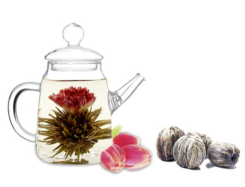 Blooming Teapot with Choice of Flowering Teas