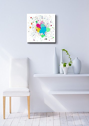 Colorful Ink Splash Drips on a for Background Use Home Deoration Wall Decor