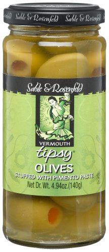- Sable & Rosenfeld Vermouth Tipsy Olives Stuffed with Pimento Paste, 4.94-Ounce Glass Jars (Pack of 6)