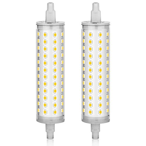 KINDEEP 2pcs 118mm R7S LED Bulb 75W-100W Halogen Equivalent, AC 110V-130V, J Type R7S Base, Daylight White 6000K, Not Dimmable, 2-Pack