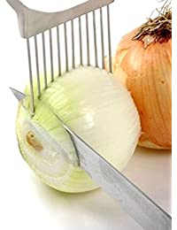Gain 1PC Onion Tomato Vegetable Slicer Cutting Aid Guide Holder Slicing Cutter save