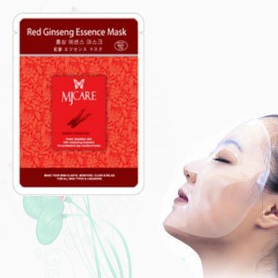 Natural Beauty Red Ginseng Essence Full Face Mask 10 Pcs