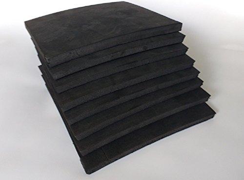 - 8 Pieces Charcoal Black Closed Cell Sponge Foam 6