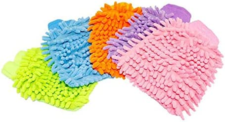 Car Wash Equipment Chenille Superfine Fiber Single-Sided Cleaning Car Gloves Cleaning Rag Multi Color Car Care