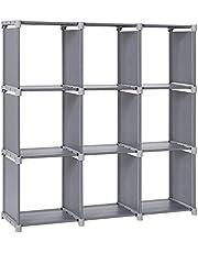 SONGMICS 9 Cube DIY Storage Shelves Open Bookshelf Closet Organizer Rack Cabinet