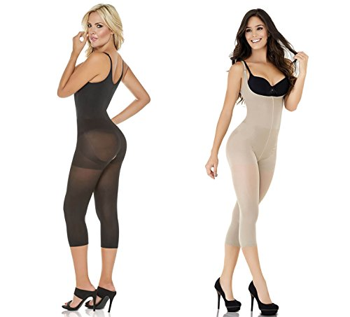Cocoon LIGHT COMPRESSION Thermal Braless Long Leg Body Briefer Capri Shaper Butt Lift Crotchless REF: COC1386