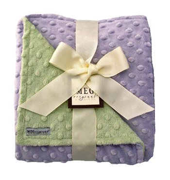 - MEG Original Minky Dot Baby Girl Blanket Lavender/Green, 321