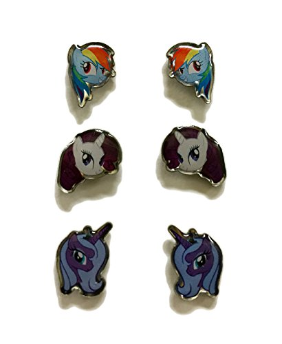 MY LITTLE PONY SURGICAL STAINLESS STEEL EARRINGS - 3 PACK...