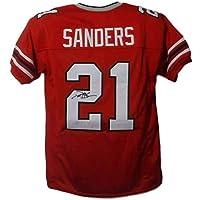 $179 » Deion Sanders Autographed/Signed Atlanta Falcons XL Red Jersey JSA