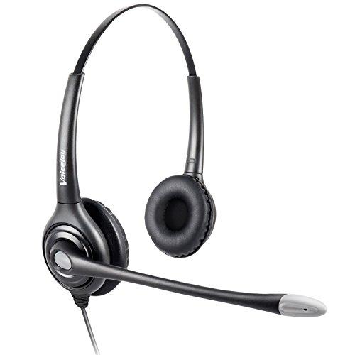 Binaural Headset Headphones Microphone Lightweight