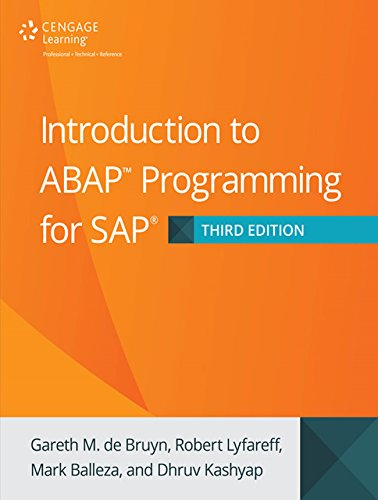 Introduction to ABAP Programming for SAP, Third Edition Pdf