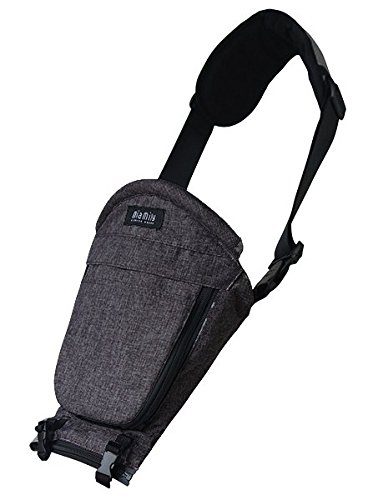 Miamily Hipster Single Shoulder Accessory only Swiss Brand - Approved by Global Wide Safety Standards - 3 additional ways to carry baby - Fits all Sizes - Ergonomic Design (Charcoal Grey)