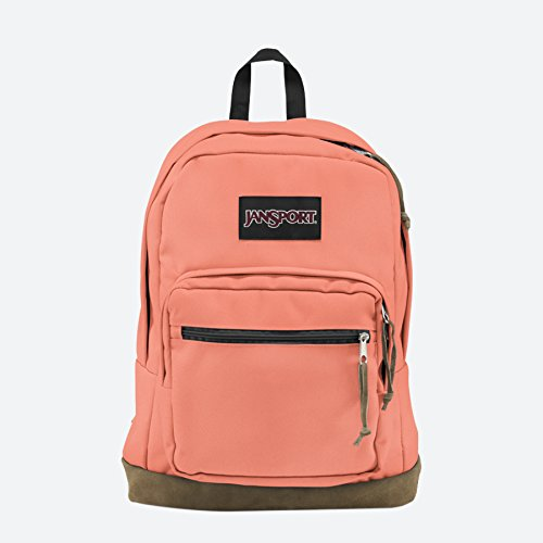 """JanSport Right Pack Laptop Backpack- 15"""" Faded Coral"""
