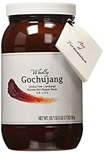 Wholly Gochujang, Premium Gluten-free Unpasteurized Artisanal Korean Hot Pepper Paste (Spicy, 19.7 oz)