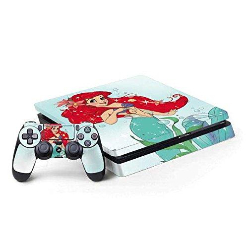 The Little Mermaid PS4 Slim Bundle Skin - Ariel Sparkles   Disney & Skinit Skin (The Little Mermaid Playstation)