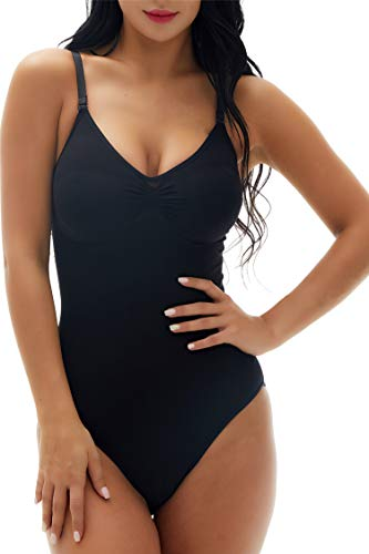 Fay Fay Women's Extra Firm Control Thong Bodysuit Smooth Sleveless Body Briefer Shaper ()