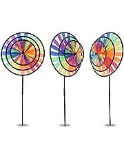 BrilliantDay 3 Pcs molino colorido viento Spinner decoración de casa patio jardín niños juguete