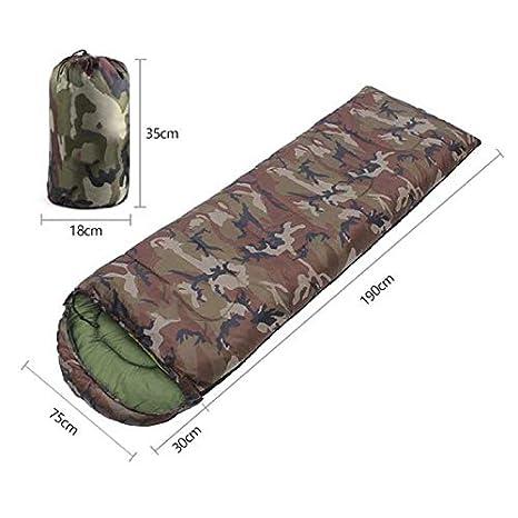 Outdoor Sleeping Bag Camouflage Envelope Sleeping Bag Warn Adult Sleeping F4V2