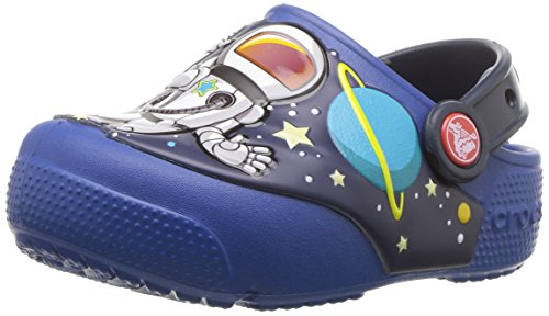 Crocs Unisex Crocs FunLab SpaceExp Lights Clog K , blue jean, C7 M US Toddler