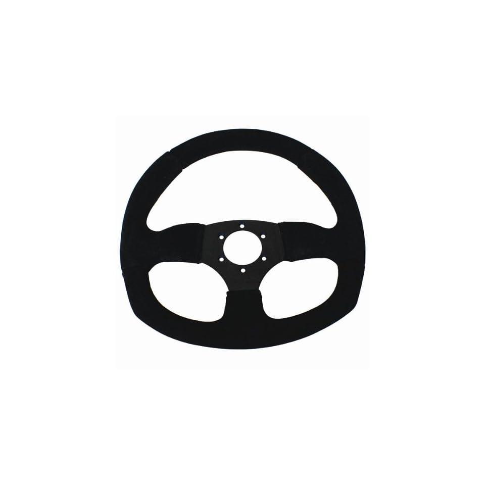 D Shape Race Steering Wheel (Suede)   Dragonfire