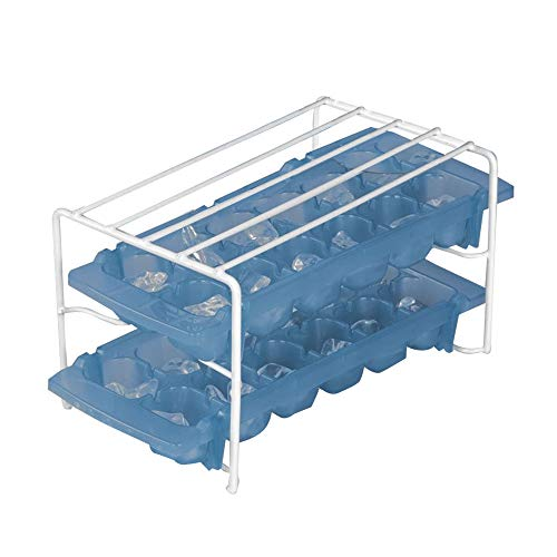 Rv Freezer Shelf Ice Tray Holder Neat and Efficient Handy Top for Small Items Revents the Ice Trays from Tipping Over and Letting Water Run All Over the Freezer Made Durable Coated Steel 9.8x5.2x5.8