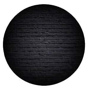 alfombrilla de ratón pared de ladrillo negro - ronda - 20cm