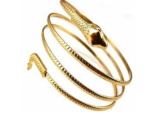 P.phoebus 18K Yellow Gold Snake Vintage Swarovski Bracelet Crystal Rhinestone 925 Sterling Silver Bangle Charms For Women Girls (Asian Silver Bracelet)