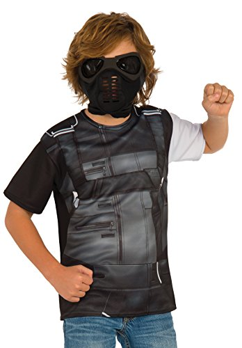 [Rubie's Costume Captain America: Civil War Winter Soldier Child Top and Mask, Medium] (Black Panther Costume Marvel)