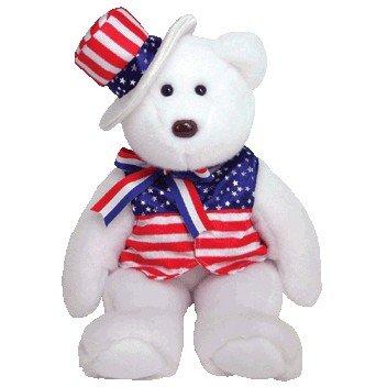 (Ty Beanie Buddies Sam - Bear White)