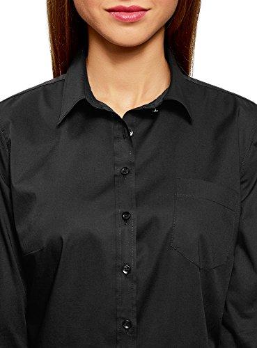 Poche Chemise Noir 2900n Ultra avec Femme Basique oodji H41ZSwx