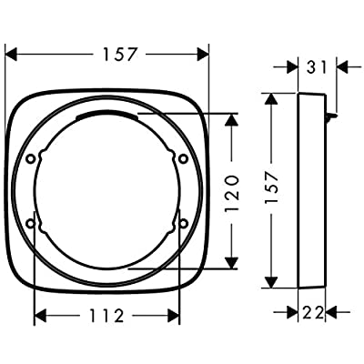 Hansgrohe 15597000 Puravida Extension iBox, 7/8-Inch, Chrome