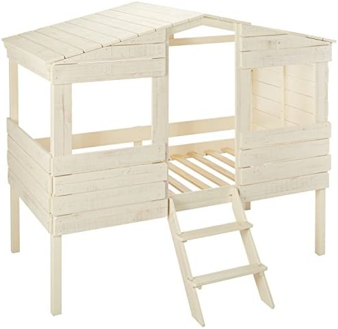 Discovery World Furniture Staircase Bunk Bed with Trundle, Twin over Twin Merlot