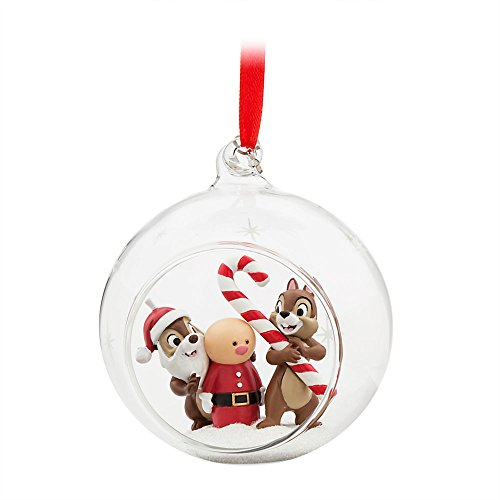 Chip Dale Christmas - Disney Chip 'n Dale Glass Globe Sketchbook Ornament