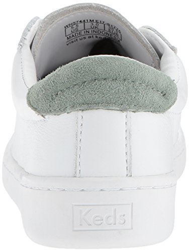 white Core sage Weiß Donna Scarpe Leather Ace Keds Basse xnwCWW