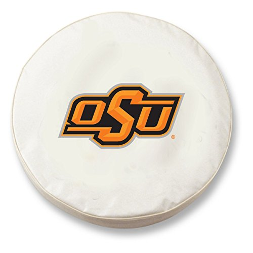 Cover State Tire (Holland Covers TCJOKStUnWT White 27 x 8 Spare Tire Wheel Cover (Oklahoma State for Jeeps RV or Trailer - Exact Fit))