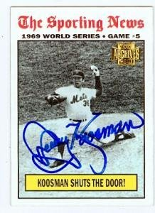 Jerry Koosman autographed Baseball Card (New York Mets) 2001 Topps Archives #222 1969 World Series (1969 New York Mets Baseball)