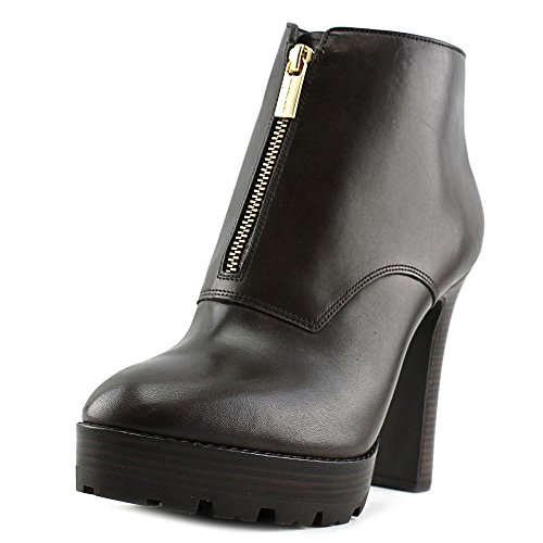 Damen Stiefeletten Schuhe Pumps MICHAEL KORS Flynn Bootie Dk Chocolate Leather