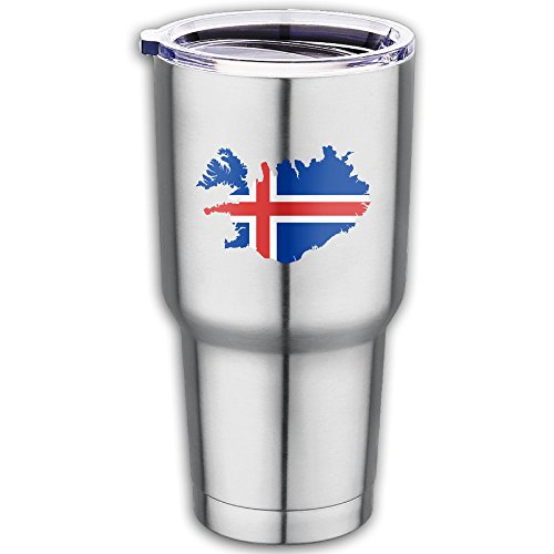 Iceland Flag Stainless Steel Double-Wall Vacuum Insulated Tumbler Outdoor/Car Tea Mug For Travel,19 Oz