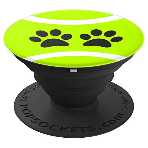 Green Tennis Ball Paw Print for Tennis Player Dog Lover Teen - PopSockets Grip and Stand for Phones and Tablets -