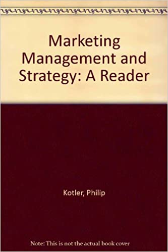 Amazon Com Marketing Management And Strategy A Reader