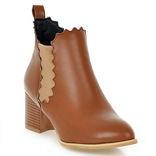 Brown on Slip Pointed Bootie Lacy Decostain BwqRfOxB
