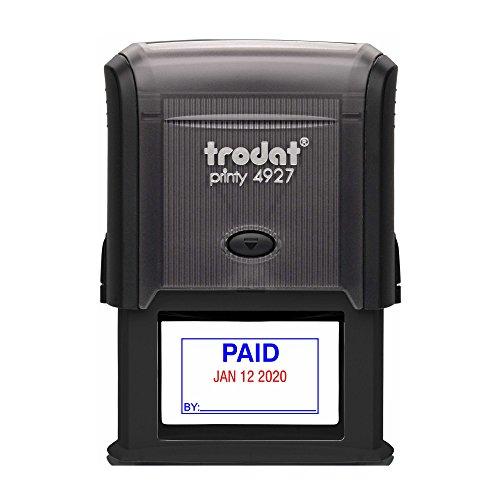 TRODAT 4729P2-B/R - Self-Inking Paid (Straight Text) Date...