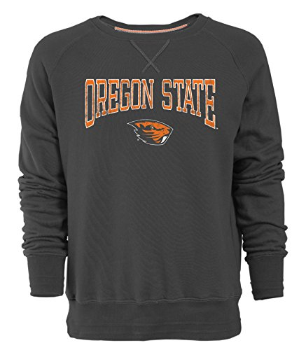 NCAA Oregon State Beavers Men's Sueded Fleece Crew Pullover, Large, Carbon