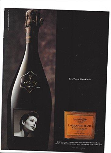 MAGAZINE AD For Le Grande Dame Brut Champagne 1998 For Those Who (Grande Dame Champagne)
