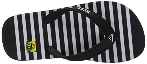 Reef Jungen Grom Switchfoot Prints Sandalen Schwarz (Black/White Blw)